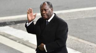 Le président Alassane Ouattara lors de sa venue à Paris pour la COP 21, le 30 novembre 2015.