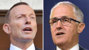 Le Premier ministre Tony Abbott (à gauche) va devoir céder sa place à Malcolm Turnbull (à droite)