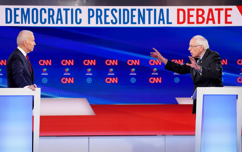 Biden Sanders Democratic debate