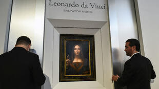 "La peinture ""Salvator Mundi"" exposée à New York le 10 octobre 2017"