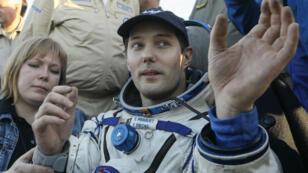 Le Français Thomas Pesquet, quelques minutes après son atterrissage, le 2 juin 2017.
