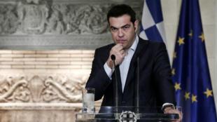 - رئيس الوزراء اليوناني ألكسيس تسيبراس