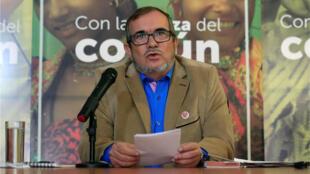 """Rodrigo Londoño, mejor conocido como """"Timochenko"""" es el candidato a la Presidencia por el partido de la antigua guerrilla de las Farc en Bogotá, el 28 de febrero de 2018."""