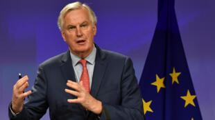 El negociador de la Unión Europea para el Brexit, Michel Barnier, durante una rueda de prensa en Bruselas, el 10 de noviembre de 2017.