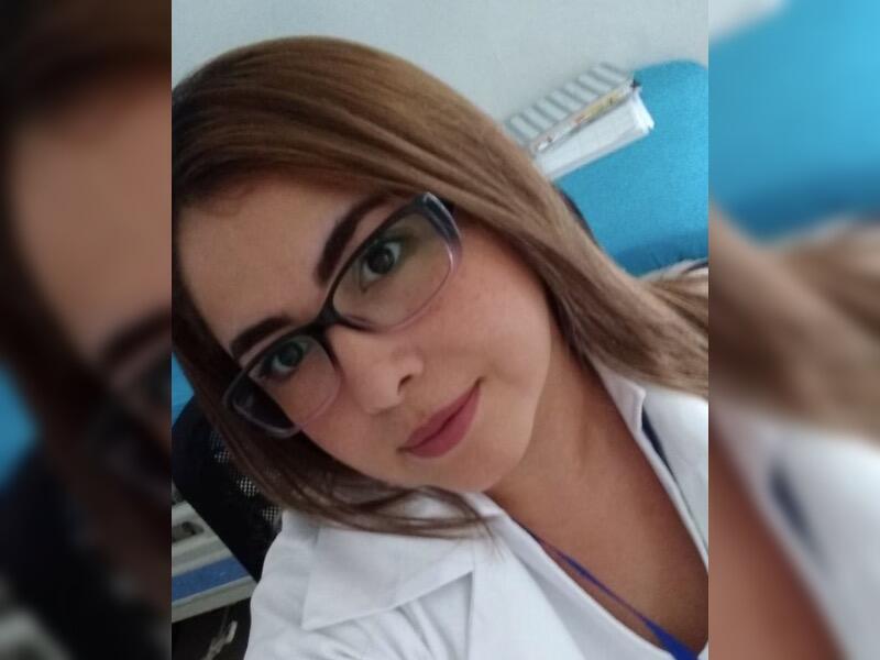 Doris González en el Día Internacional de la Enfermería.