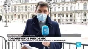 2020-10-05 13:11 Coronavirus pandemic: Paris on maximum virus alert, closing bars, not restaurants