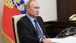 الرئيس الروسي فلاديمير بوتين في موسكو بتاريخ 5 حزيران/يونيو 2020