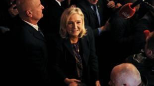 Marine Le Pen à Hénin-Beaumont, le 13 décembre 2015.