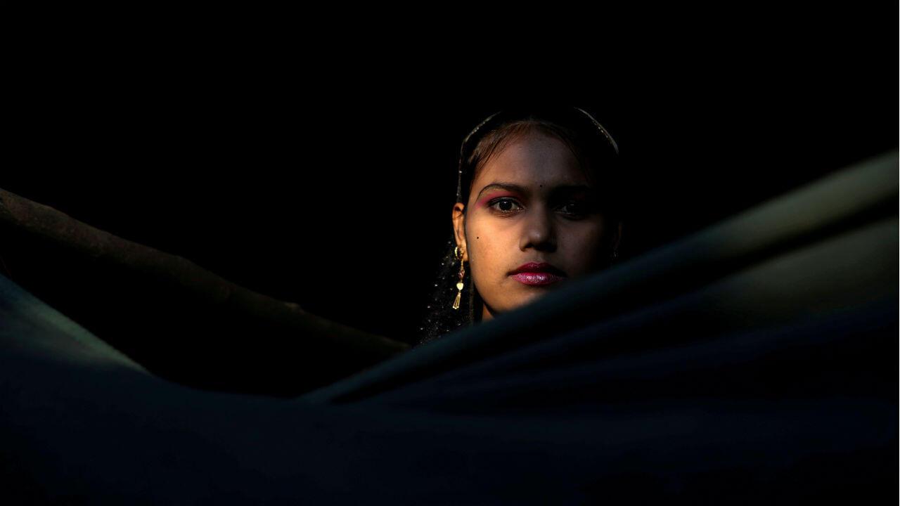 Fotografía con fines ilustrativos: una mujer es retratada en el campo de refugiados de Kutupalong en Bangladesh, el 14 de diciembre de 2017.