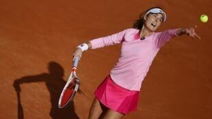Alizé Cornet éliminée au 2e tour de Roland-Garros par la Chinoise Shuai Zhang, le 1er octobre 2020