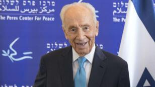 Shimon Peres, en mai 2016, au Centre Peres pour la paix.