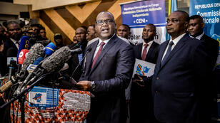 Le président de la Commission électorale congolaise, Corneille Nangaa, le 23 décembre 2018, à Kinshasa.