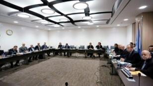جلسة تفاوض بين الوفد الحكومي السوري ومبعوث الأمم المتحدة إلى سوريا ستافان دي ميستورا في 25 شباط/فبراير 2017