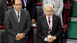 Rached Ghannouchi in Tunisian parliament