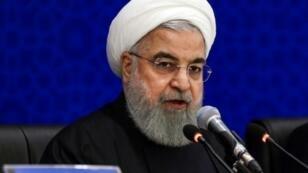 الرئيس الايراني حسن روحاني يتحدث في العاصمة طهران في 8 كانون الاول/ديسمبر 2018