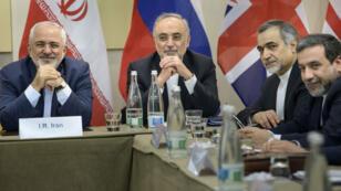 Les négociateurs iraniens le 30 mars à Lausanne.