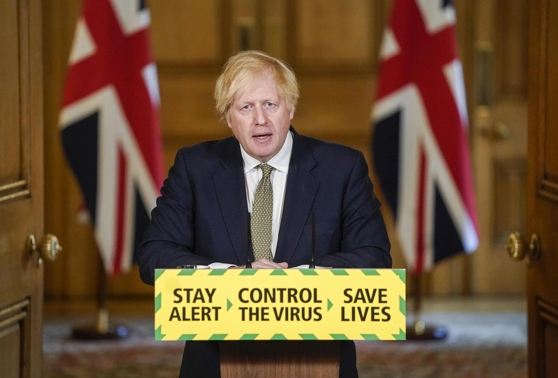 Le Premier ministre britannique, Boris Johnson, lors de sa conférence de presse du 24 mai.