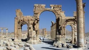 جانب من الآثار في مدينة تدمر