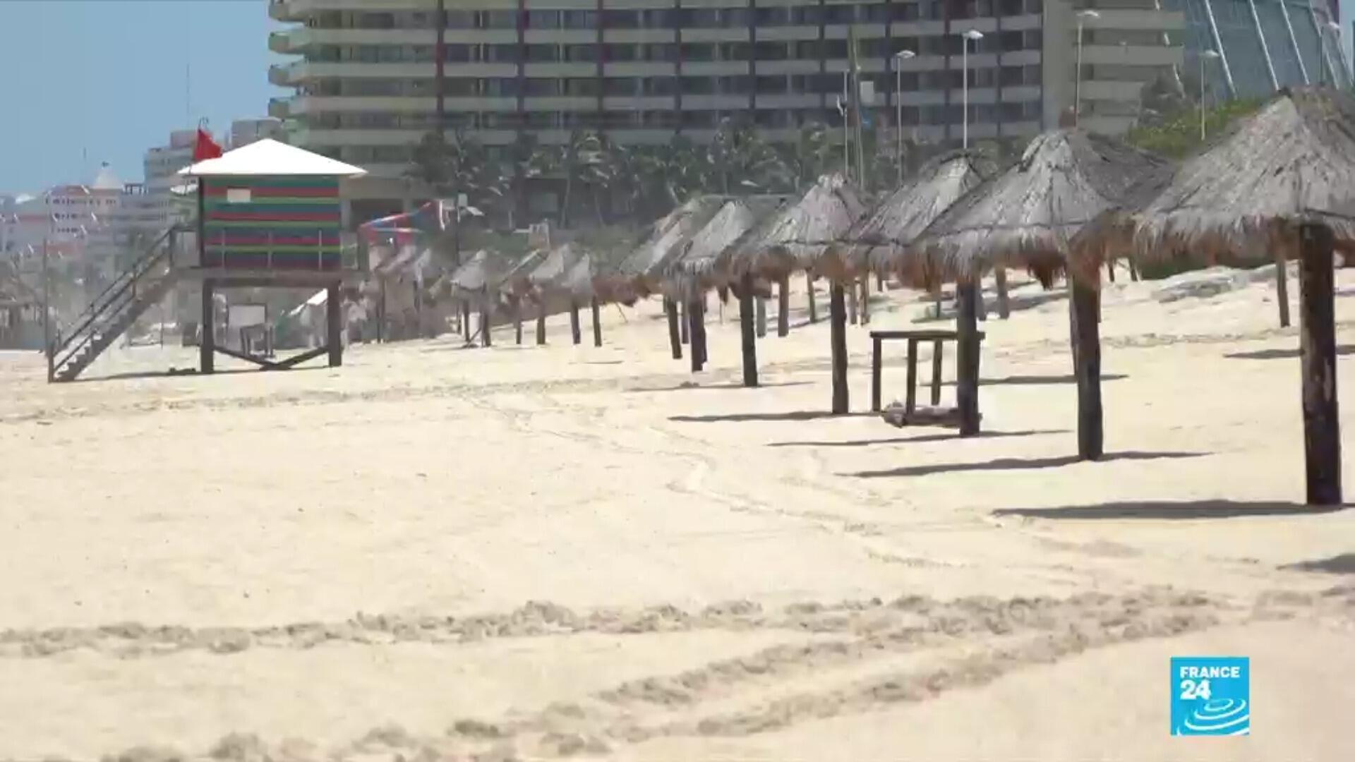 La plage de Cancun, au Mexique.
