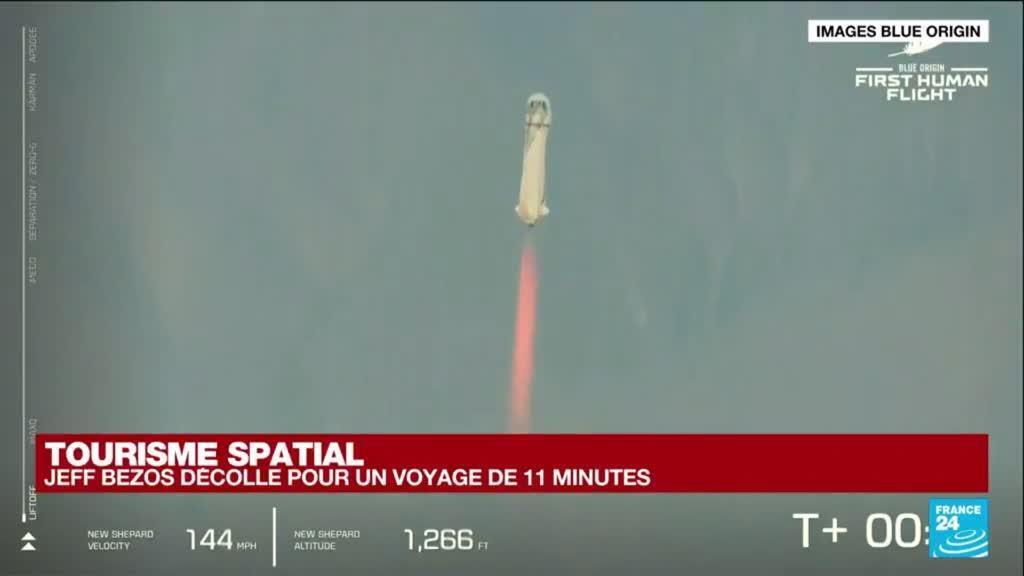 2021-07-20 15:07 REPLAY - Le milliardaire Jeff Bezos a réussi son vol vers l'espace