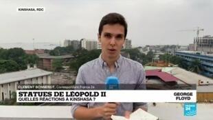 2020-06-11 13:06 Déboulonnage des statues de Léopold II : quelles réactions à Kinshasa ?