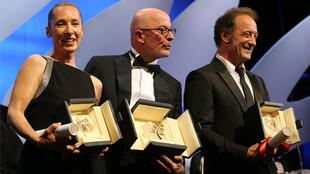 L'actrice Emmanuelle Bercot, le réalisateur Jacques Audiard et le comédien Vincent Lindon.