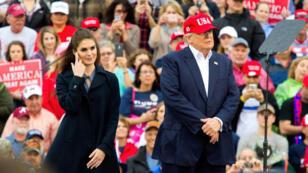 Donald Trump et Hope Hicks à Mobile, dans l'Alabama, le 17 décembre 2016.