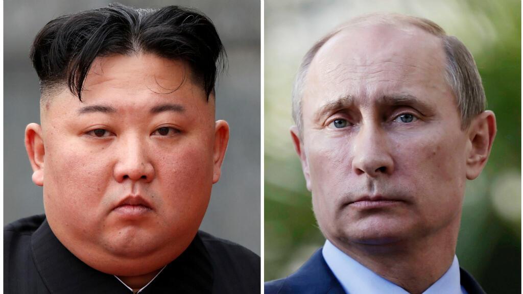 El mariscal norcoreano Kim Jong-un y el presidente ruso Vladimir Putin, que se espera que se reunan la otra semana en Rusia.