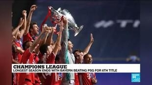 2020-08-24 10:11 Bayern defeat PSG to lift 6th Champions League trophy