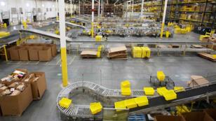Dans un entrepôt Amazon du New Jersey, le 9 juillet dernier.