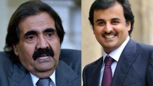 L'émir du Qatar Hamad Ben Khalifa al-Thani et le prince héritier