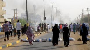 الخرطوم عقب محاولة المجلس العسكري فض الاعتصام بالقوة ووقوع قتلى وجرحى 3 يوليو/حزيران 2019