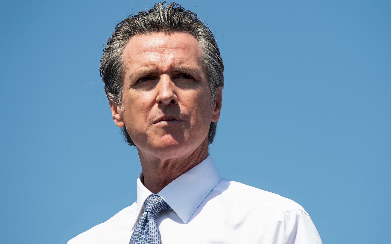 El gobernador de California, Gavin Newsom, en un mitin de campaña, el 8 de septiembre de 2021