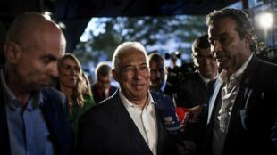 Le candidat du Parti socialiste et Premier ministre sortant du Portugal, Antonio Costa, à l'hôtel Altis à Lisbonne, le 6octobre2019.