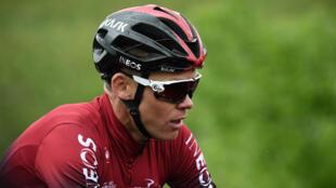 Le Britannique Chris Froome a chuté lors de l'entraînement de la 4e étape du criterium du Dauphiné, le 12 juin 2019.