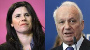 Les députés européens Virginie Rozière et Jean-Marie Cavada.