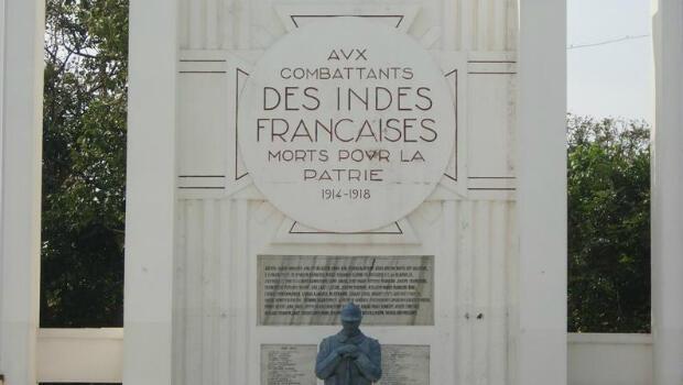 Le monuments aux morts de Pondichéry