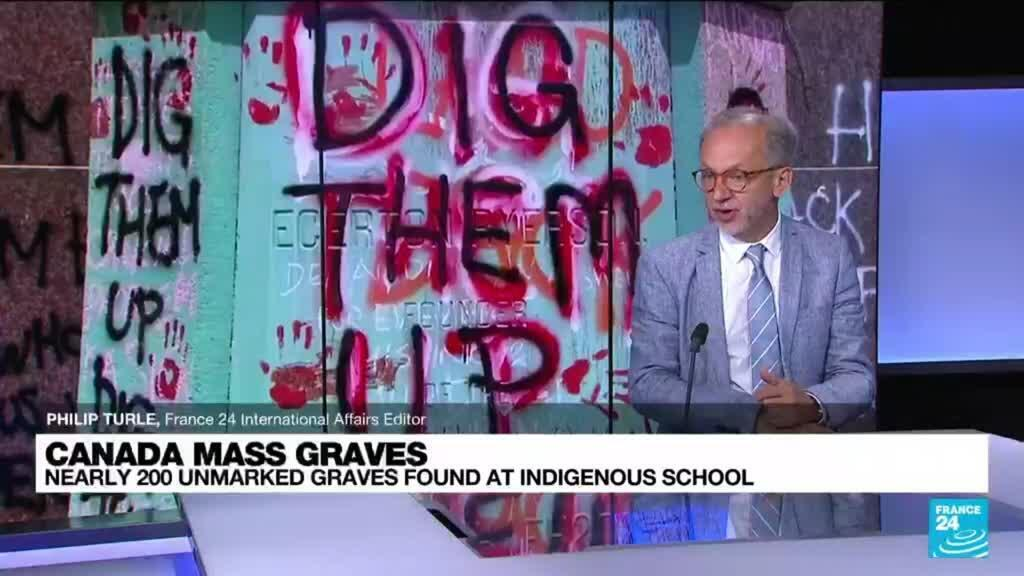 2021-07-01 13:16 Nearly 200 unmarked graves found at Canada indigenous school