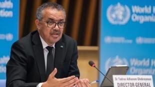 مدير عام منظمة الصحة العالمية تيدروس ادهانوم غيبريسوس.