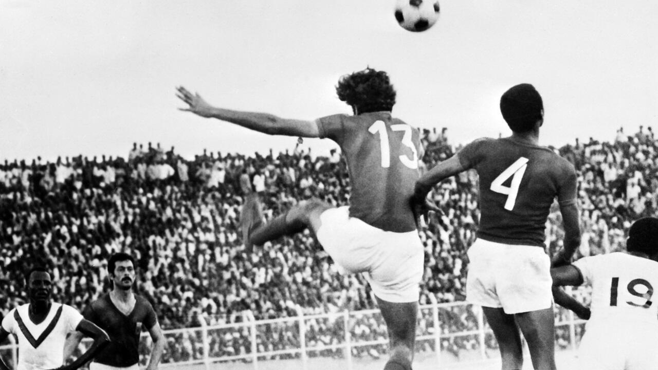 لقطة من مباراة المنتخبين المغربي والسوداني خلال كأس الأمم الأفريقية بالكاميرون 27 فبراير/شباط 1972.
