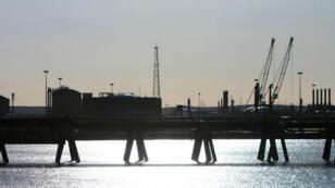 Le port de Ras Lanouf, l'un des deux sites pétroliers, le 11 janvier 2017.