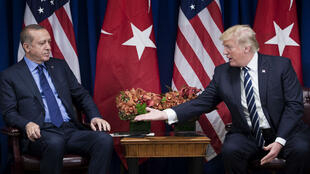 Rencontre entre Recep Tayip Erdogan et Donald Trump aux Nations unies, à New York, le 21 septembre 2017.