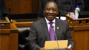 Discours de Cyril Ramaphosa devant le Parlement sud-africain, le 16 février 2017, au Cap.