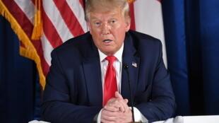 الرئيس الأميركي دونالد ترامب في 31 تموز/يوليو 2020 في فلوريدا