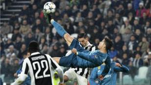 هدف كريستيانو رونالدو في مرمى نادي يوفنتوس خلال مباراة نصف نهائي دوري أبطال أوروبا، نيسان/أبريل 2018