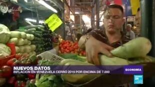 Inflación en Venezuela supera los 7.000 puntos en 2019