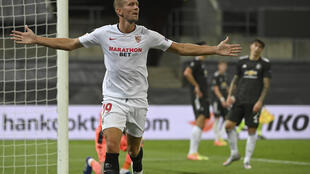 Luuk De Jong scored Sevilla's winner to reach the Europa League final