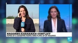 2020-10-07 14:11 Nagorno-Karabakh conflict: Hopes of a ceasefire fading amid flare-up of violence