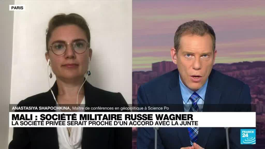 """2021-09-14 20:11 Mali-Société militaire russe Wagner: """"La Russie cherche à élargir son influence en Afrique"""""""