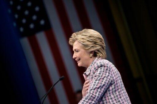 المرشحة الديمقراطية للرئاسة الاميركية هيلاري كلينتون في فلوريدا في 30 ايلول/سبتمبر 2016